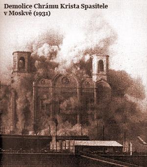 Demolice chrámu Krista Spasitele